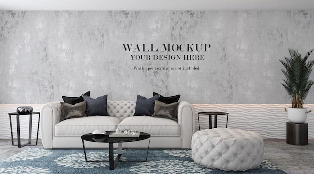 Living room mockup wall