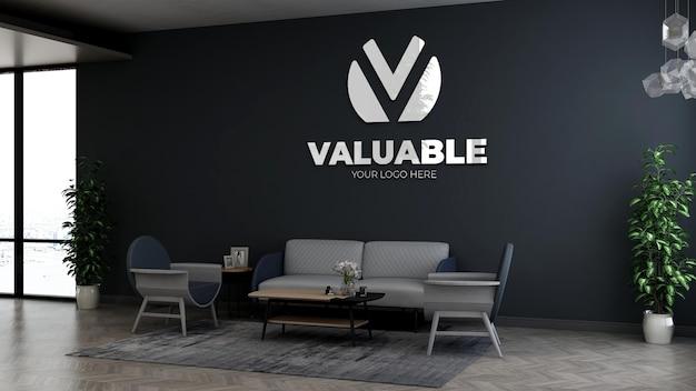 Гостиная или офис лобби зал ожидания стены логотип mocku