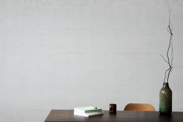 Living room wall mockup psd interior design