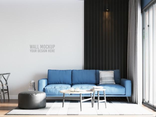 Living room wall mockup