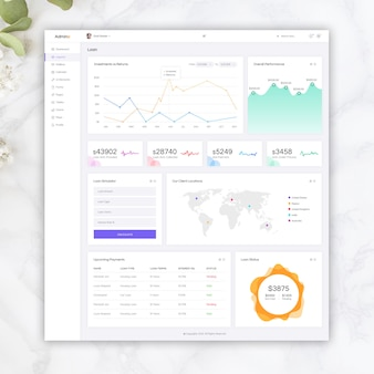 Loan light admin template