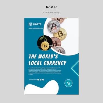 Modello di poster in valuta locale