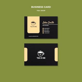 Local tea shop business card design template