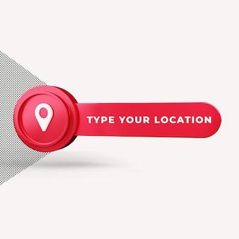 Значок местоположения 3d визуализации Premium Psd