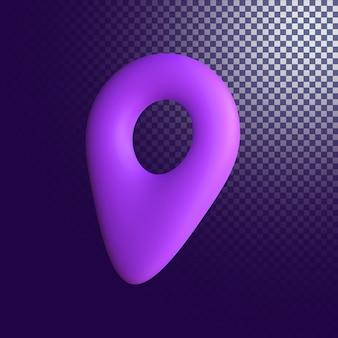 Значок местоположения высокого качества 3d визуализации изолированы