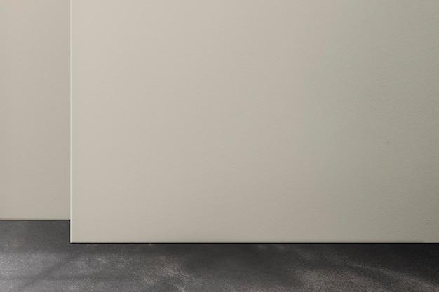 검은색 바닥이 있는 로프트 룸 벽 모형 psd
