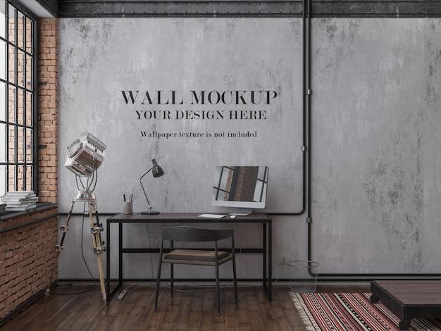 Loft style room wall mockup