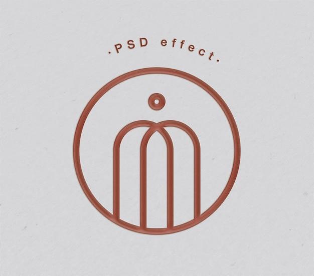 紙のロゴとテキスト効果のモックアップ