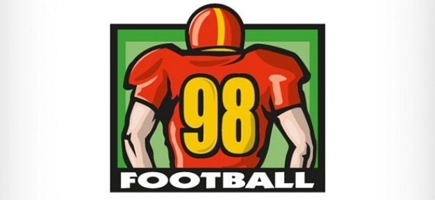 Logo design template with american football player