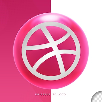 Логотип dribbble в дизайне эллипса 3d