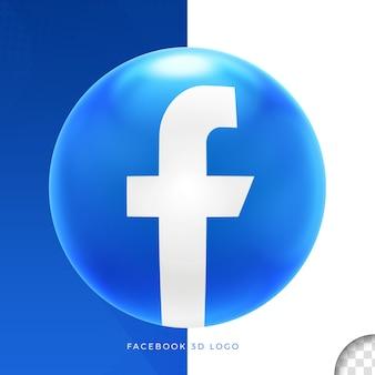 Логотип facebook на эллипсе 3d дизайн