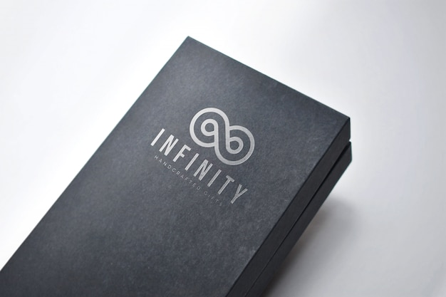 Logo on a gift box mockup