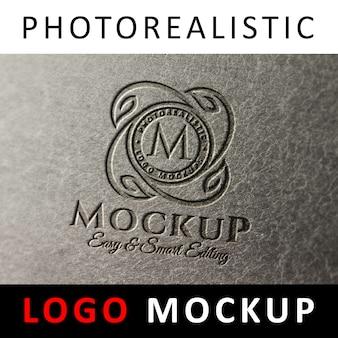 Logo mock up-화강암 대리석에 새겨진 로고