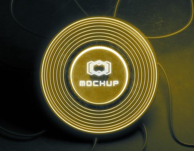 明るい光の中でロゴのモックアップ Premium Psd