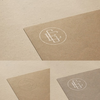 Logo mock up in cardboard