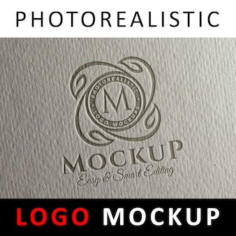 Logo Mock up - Letterpress logo on paper