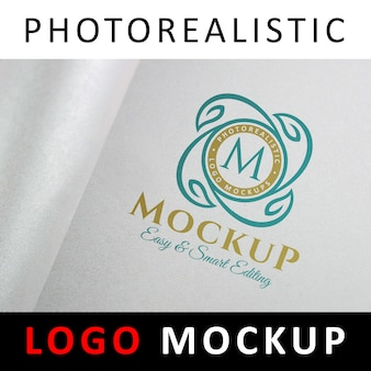 Logo mock up - logo printed on baches and canvas material