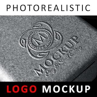 Logo mock up - molded embossed logo on foam material