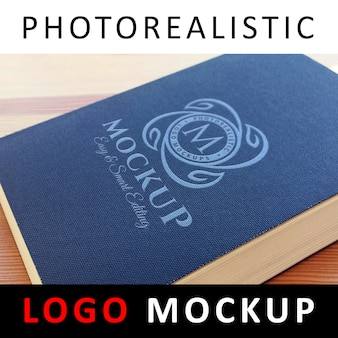 Logo mock up - printed logo on book cover