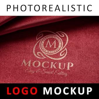 Logo mock up - serigraphy screen printing logo on fabric