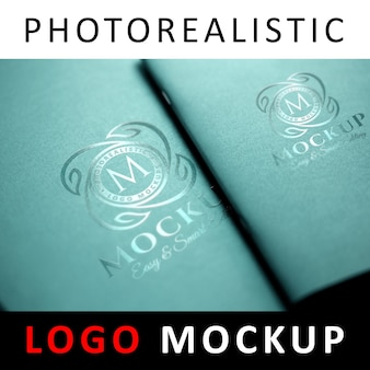 Logo mock up - uv spot logo printing