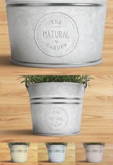 Logo mock up with plant