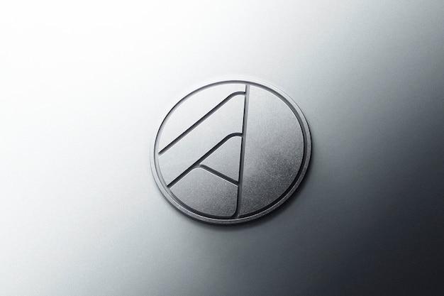Logo mockup 3d metal