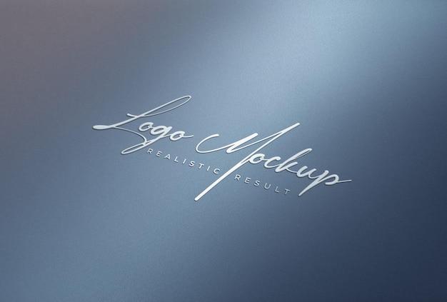 Логотип mockup 3d белый логотип