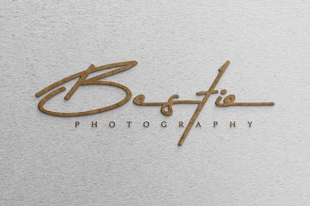 Макет логотипа 3d