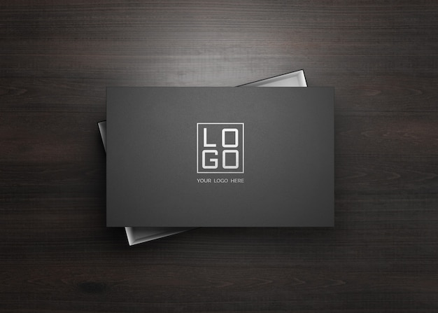 Logo mockup on the black box