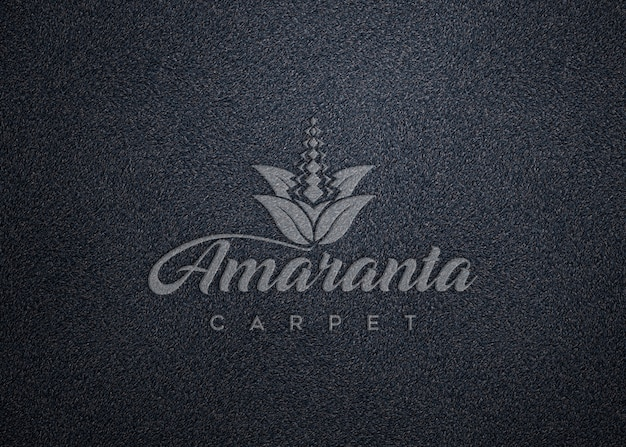 Logo mockup on carpet texture