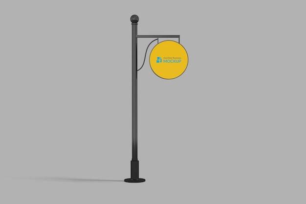Logo mockup circle signboard