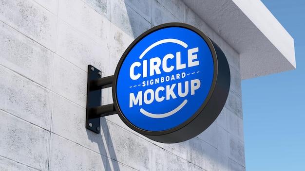 Вывеска круга макета логотипа