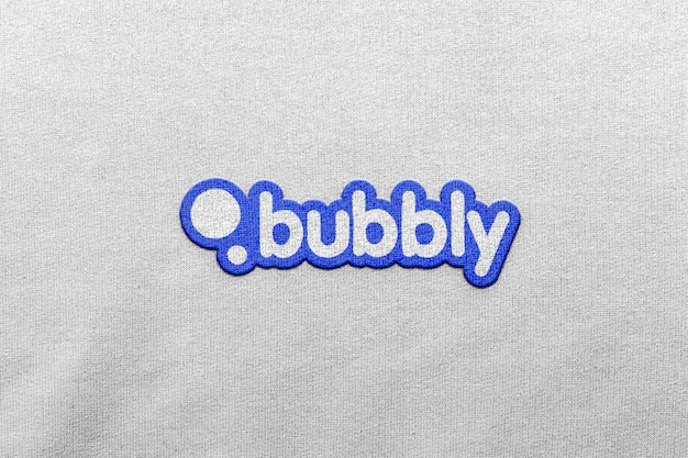 Logo mockup clothing patch front 3d