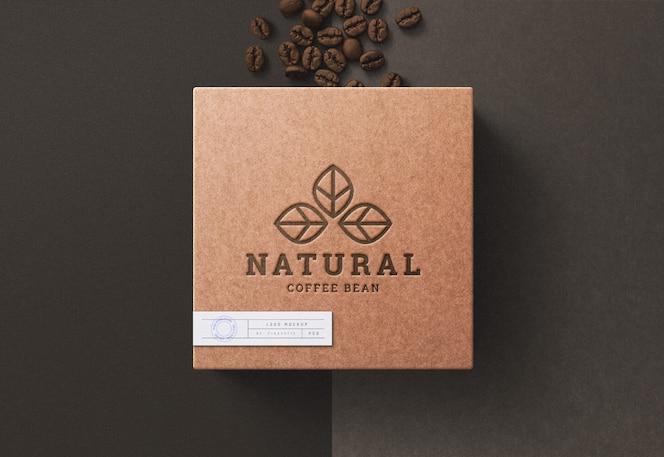 Logo mockup on coffee box
