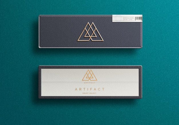 Logo mockup design on  luxury jewellery box