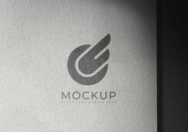 Logo mockup design template on texture surface paper