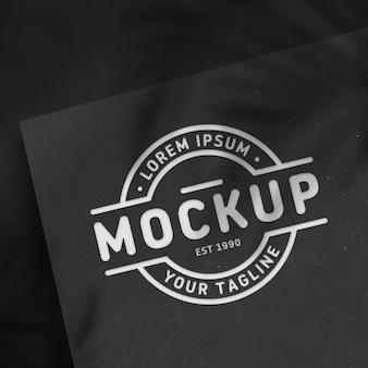 Logo mockup design with black background