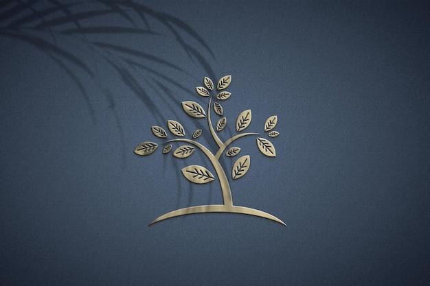 그림자 오버레이가있는 로고 모형 디자인