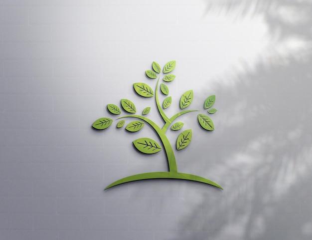 Дизайн макета логотипа с тенью