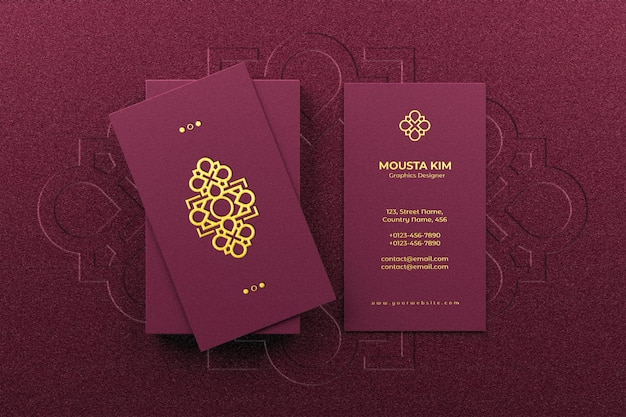 Logo mockup on elegant business card
