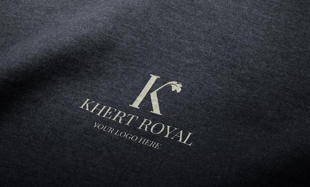 Logo mockup on fabric