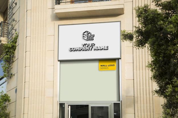 Logo mockup facade sign