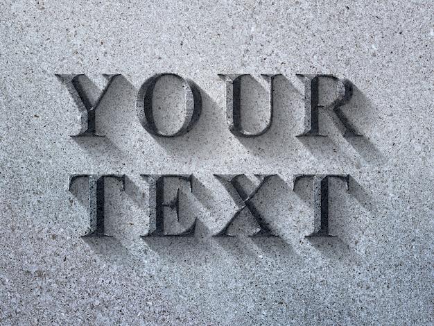 Logo mockup on granite