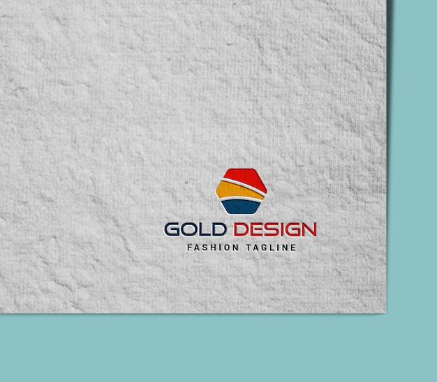 Макет логотипа в бумаге ручной работы