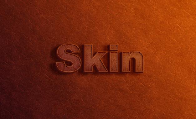 Logo mockup on leather texture