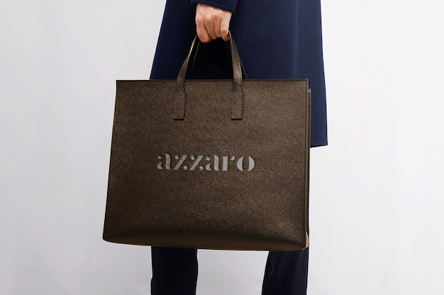 Logo mockup luxury bag