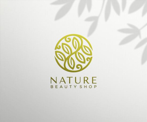 Роскошный макет логотипа с тиснением