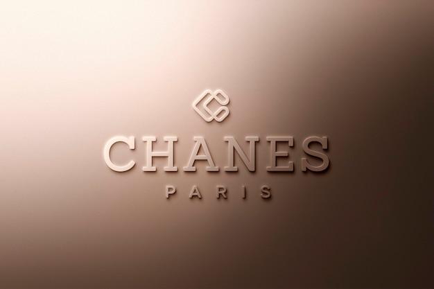 Logo mockup luxury gold