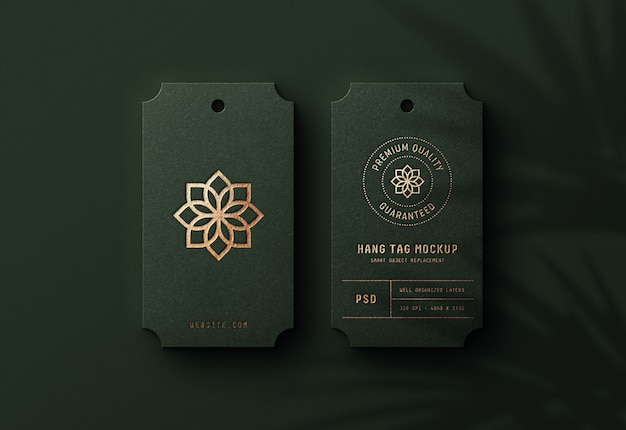 Logo mockup on luxury hang tag